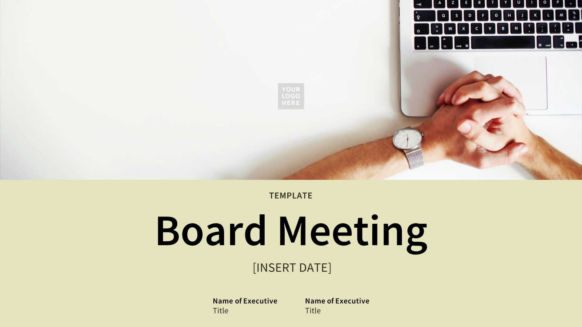 Board Meeting Presentation Template