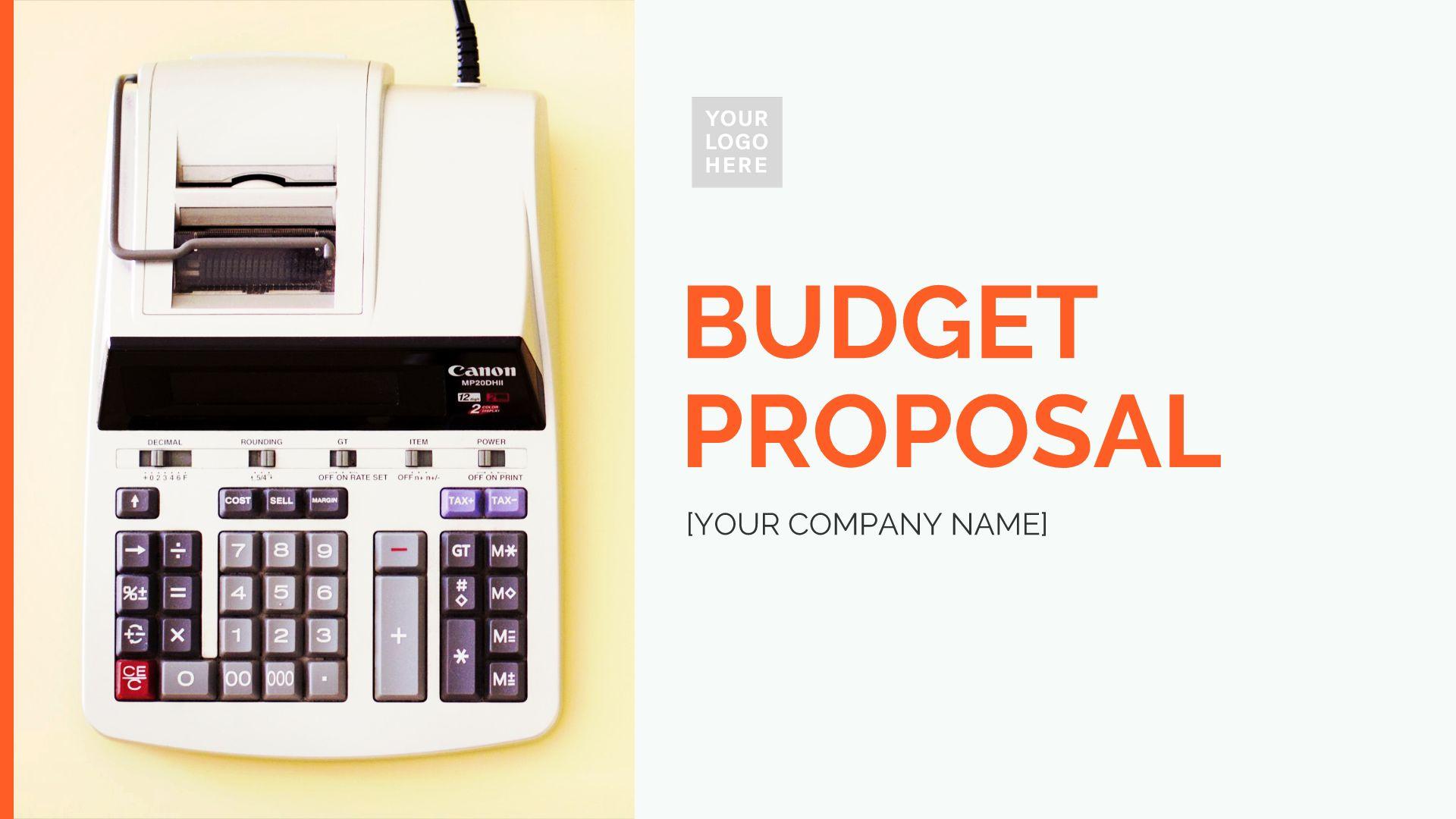 Budget Proposal Presentation