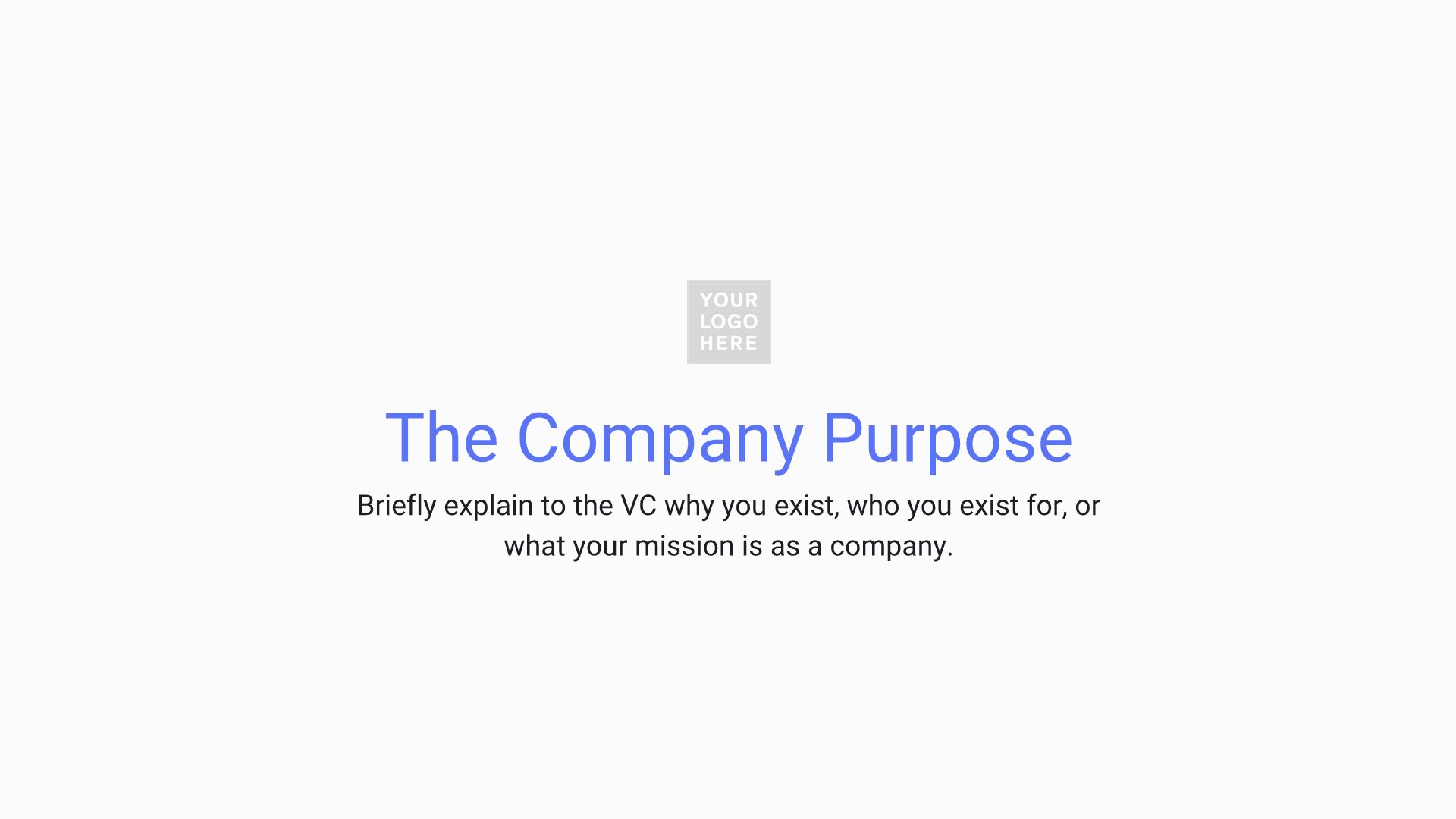 Company Purpose