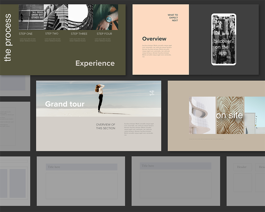 Stand Out From The Crowd With Presentations With Clean, Modern Designs