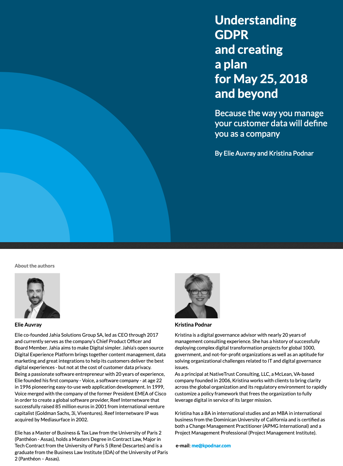 Understanding GDPR and creating a plan for May 25, 2018 and beyond