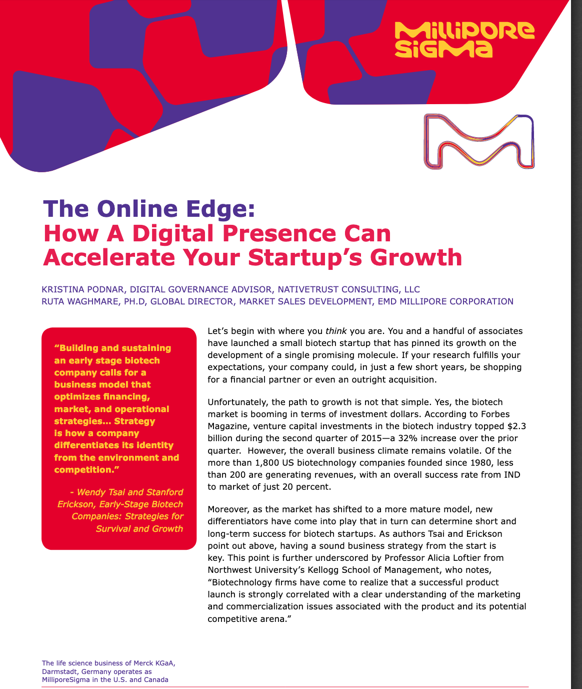 The Online Edge:  How A Digital Presence Can Accelerate Your Startup's Growth
