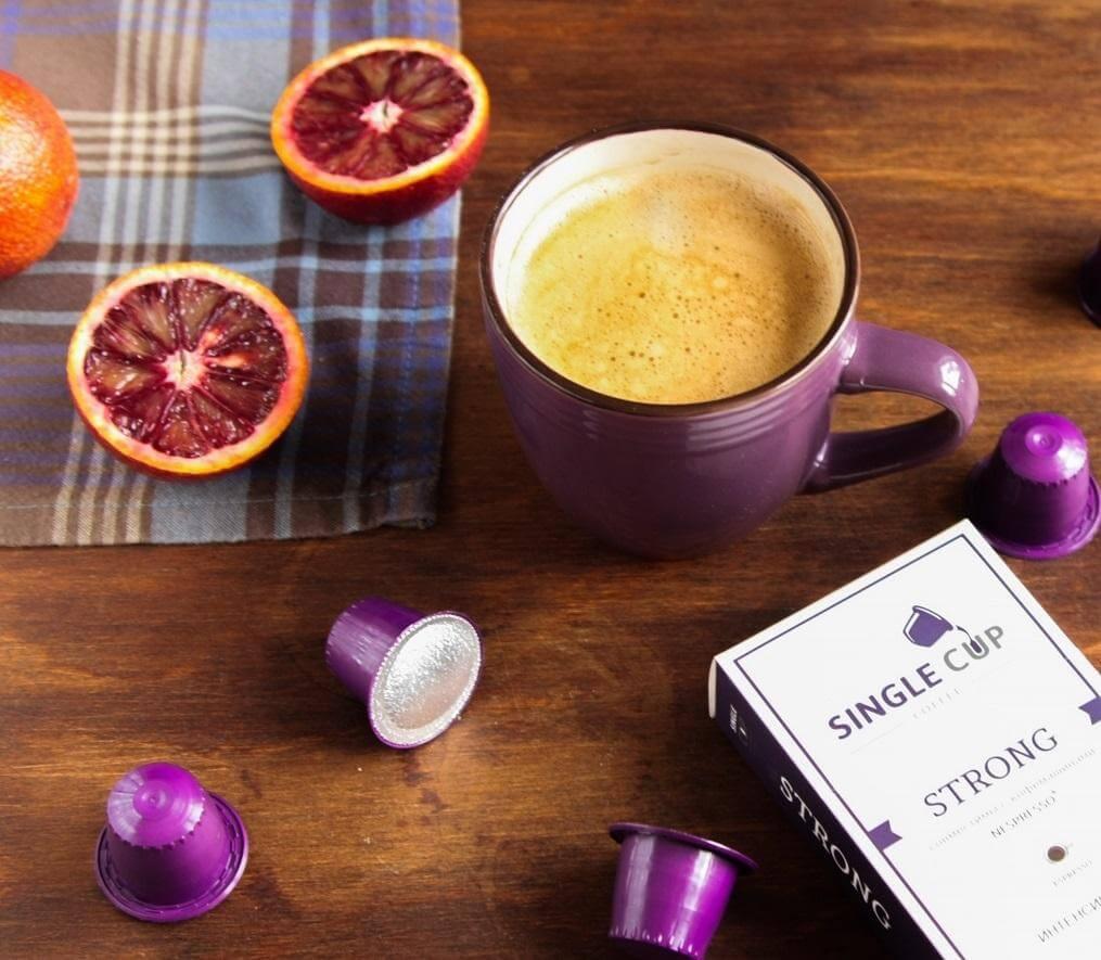 Кофе капсулы Single Cup Strong для кофемашин Nespresso цитрусовые нотки