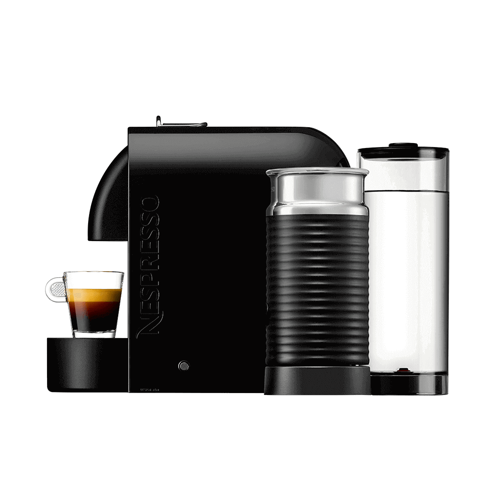 Кофемашина Delonghi Nespresso UMilk Black вид сбоку