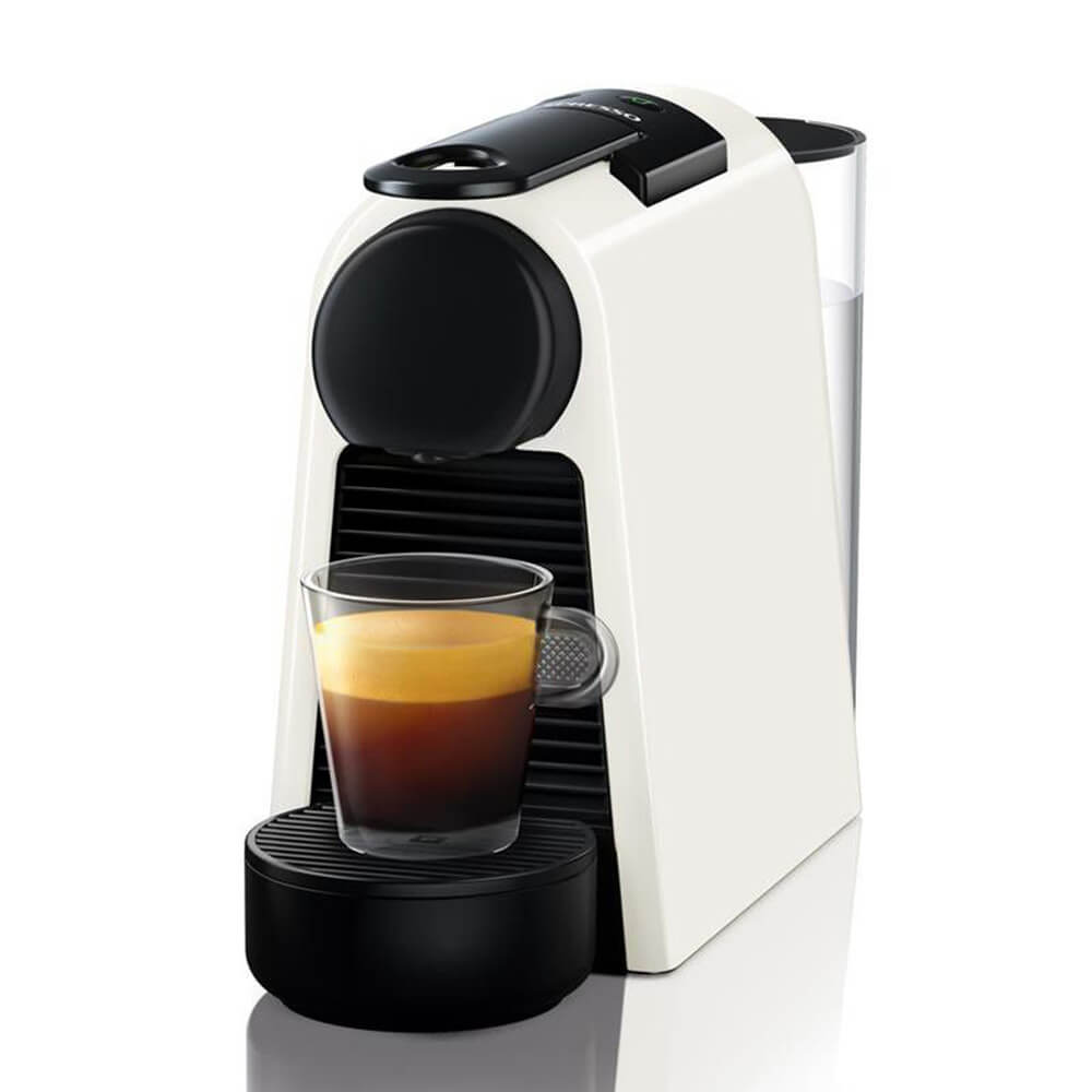 Кофемашина Delonghi Nespresso Essenza Mini белая вид сбоку