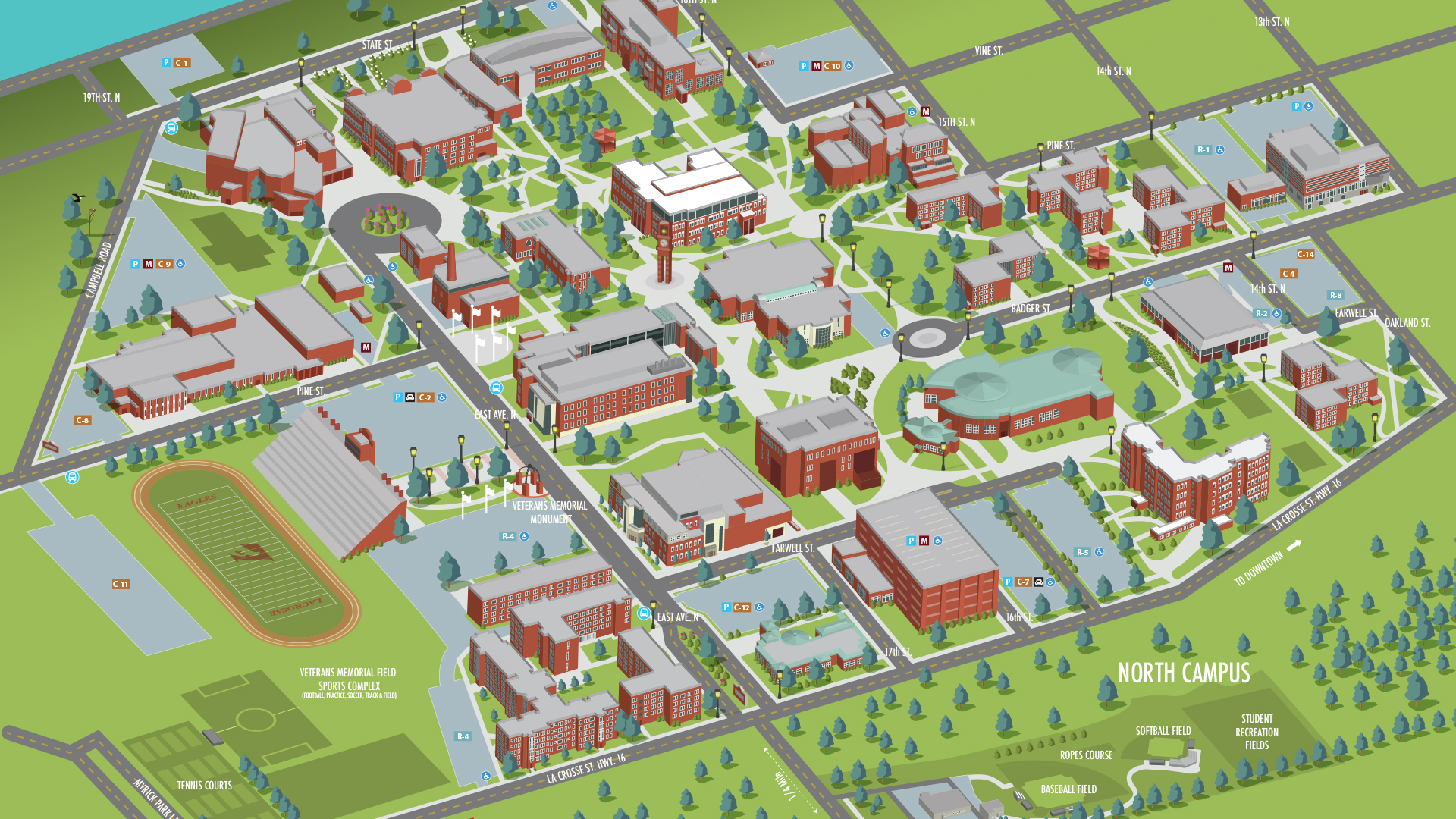 Photo of campus map