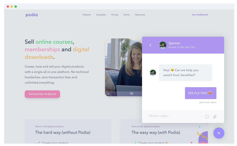 Teachable Alternatives- podia customer support