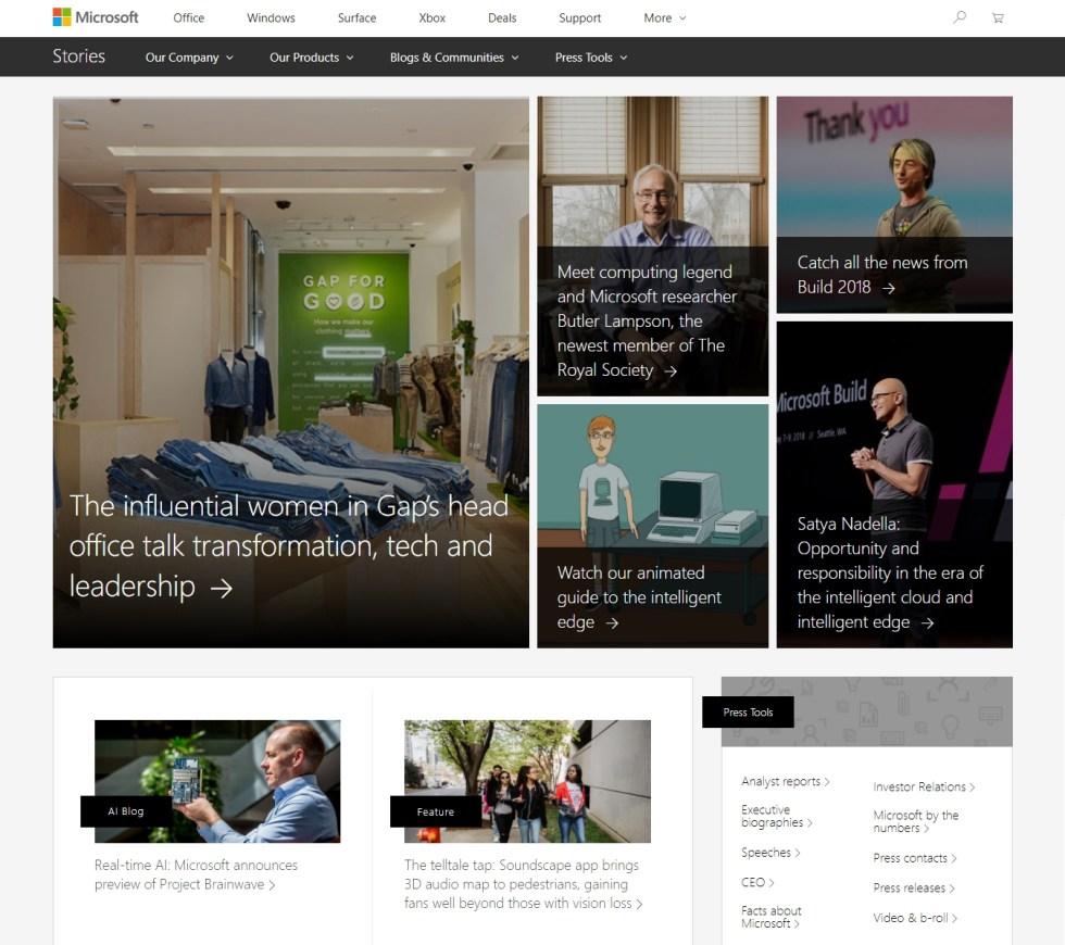 Пресс-центр Microsoft