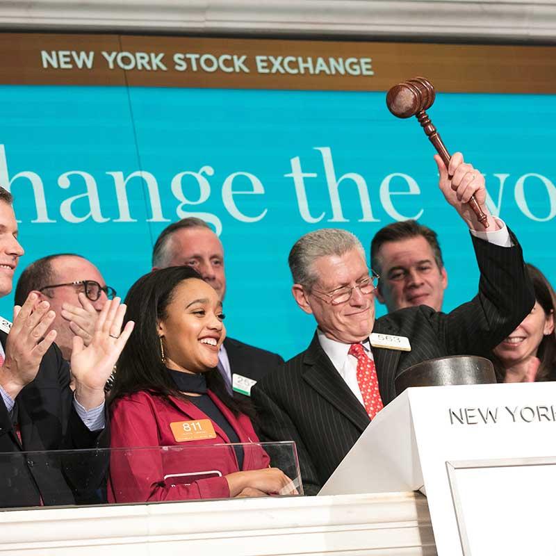 richard rosenblatt ringing the opening bell on the floor of the new york stock exchange