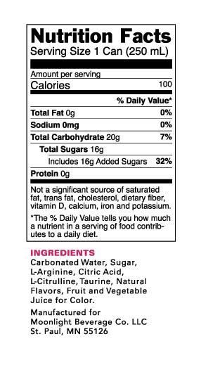 Nutrition Information for Love Life Cosmo Flavor Enhanced Beverage