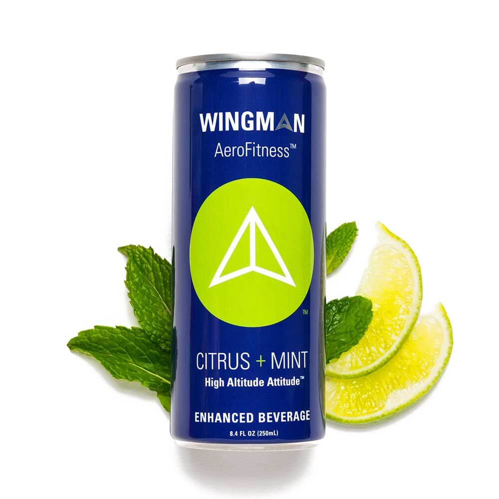 Wingman AeroFitness Citrus Mint Enhanced Beverage Can Image