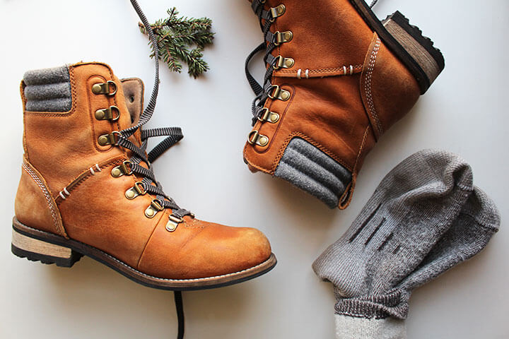 Image of hiking boots and socks