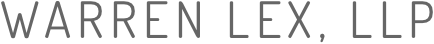 Warren Lex, LLP law firm logo.
