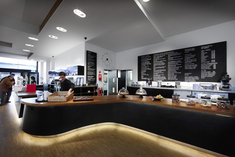 Chapter Arts Cardiff Ash Sakula 34 metre bar the longest bar in Wales