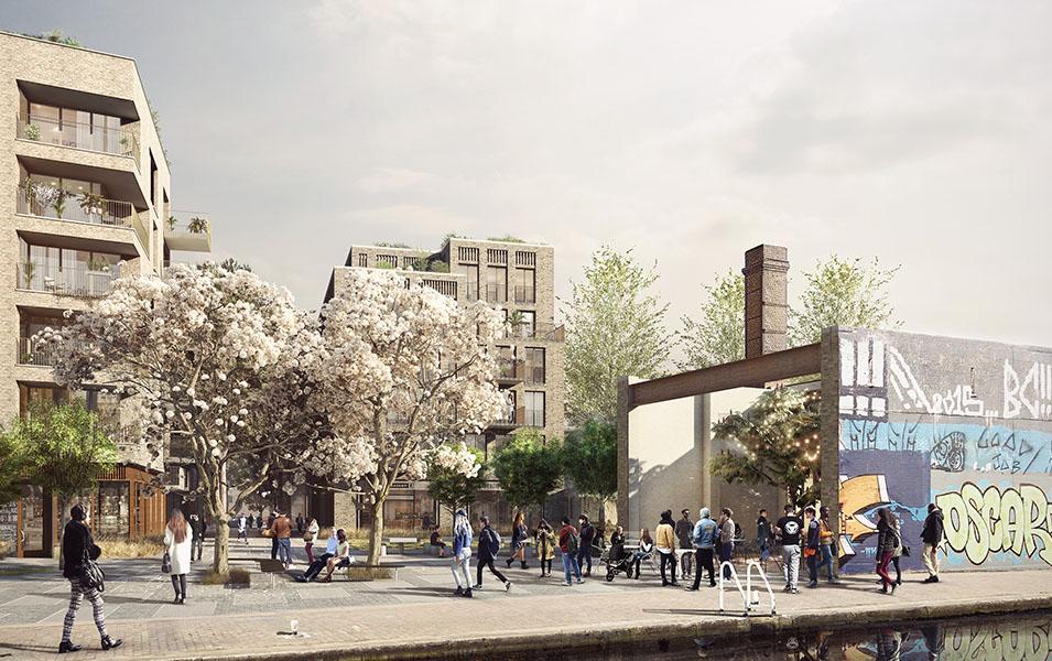 Wickside Hackney London Housing development Ash Sakula high-density housing typology