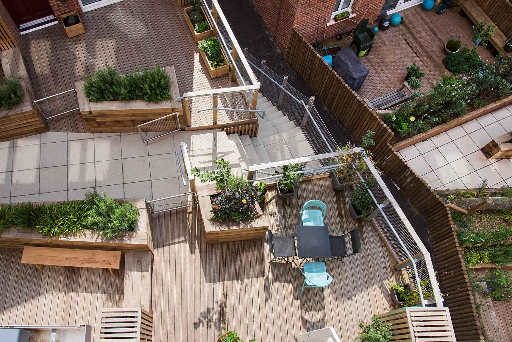 Ash Sakula The Malings Ouseburn Newcastle Irregular Garden Decking