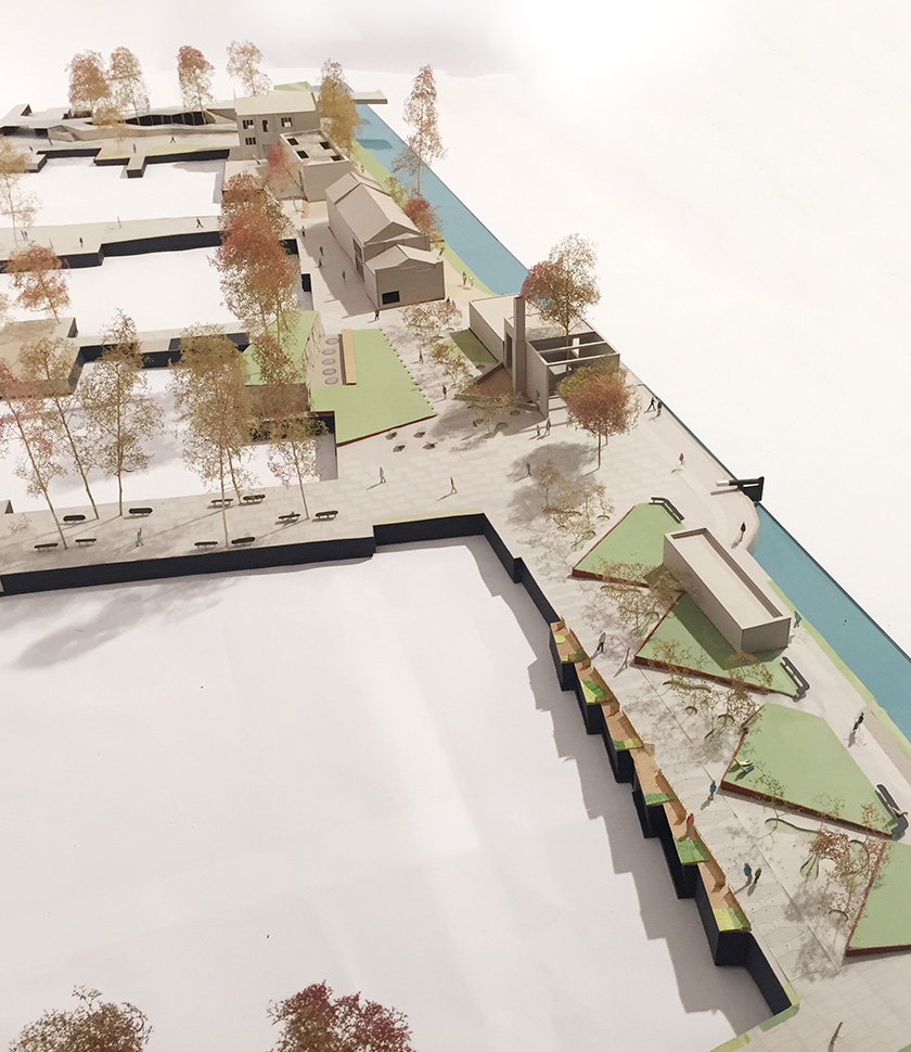 Wickside Hackney London Housing development Ash Sakula model