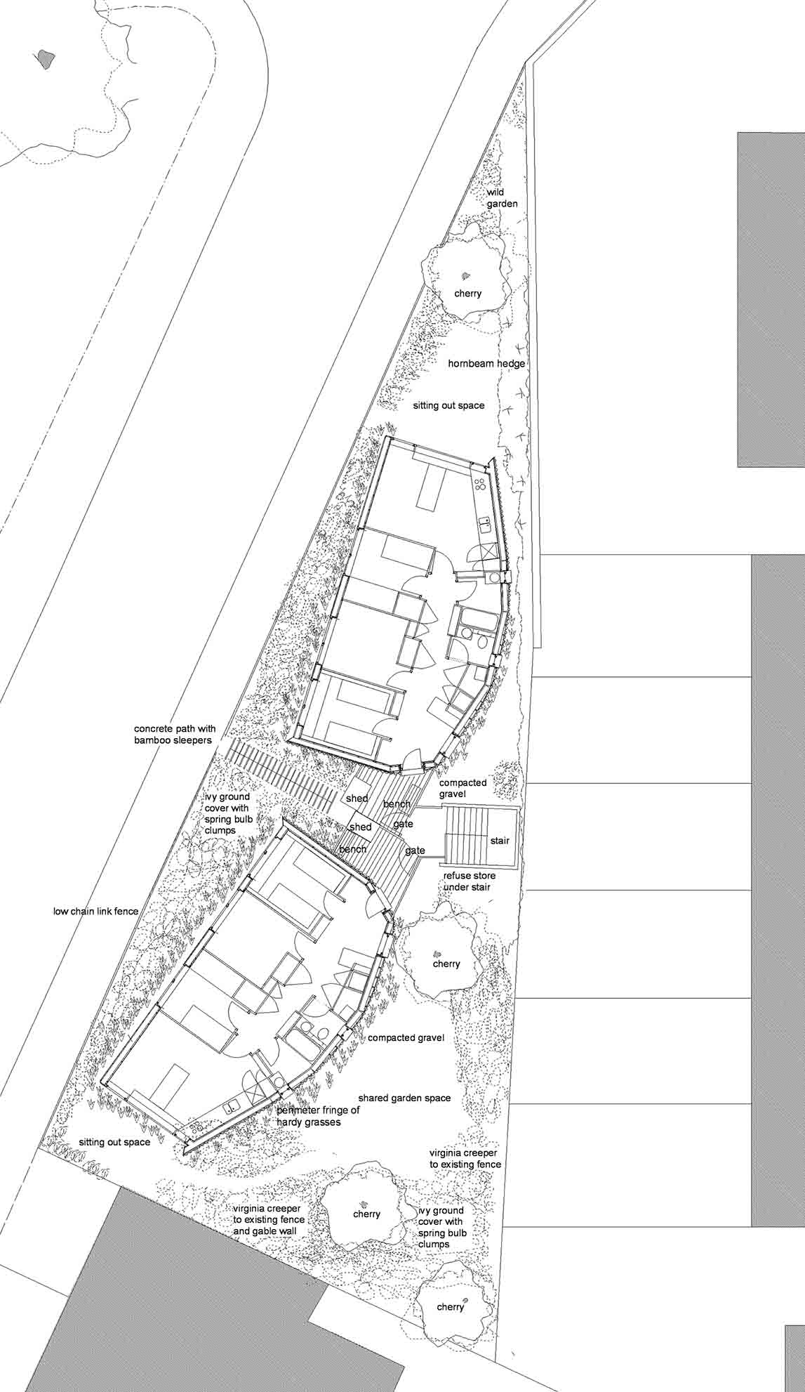 Peabody Housing Ash Sakula Architects site plan drawing