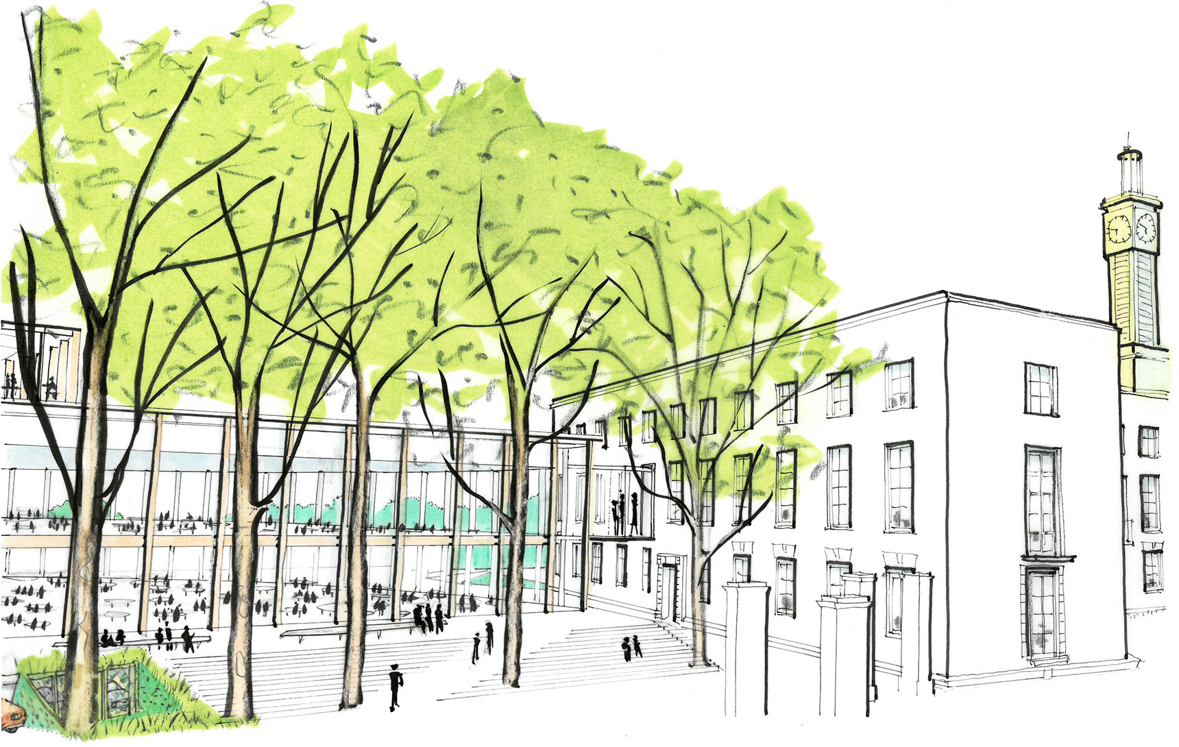 Ash Sakula Waltham Forest concept sketch council office accomodation