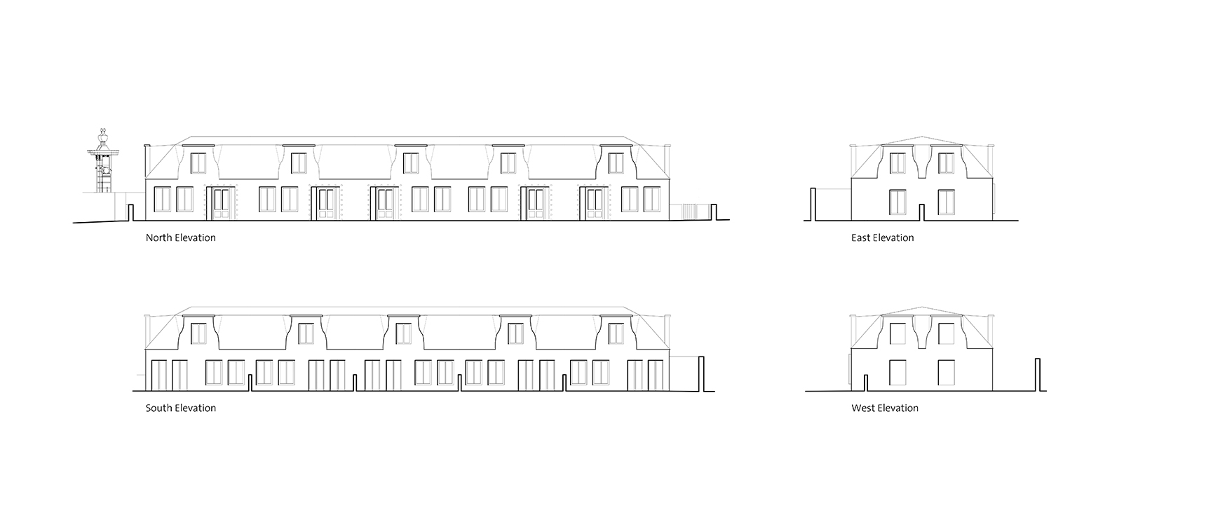 Mew house elevation drawings for residential development in Bernolákovo Slovakia by Ash Sakula Architects