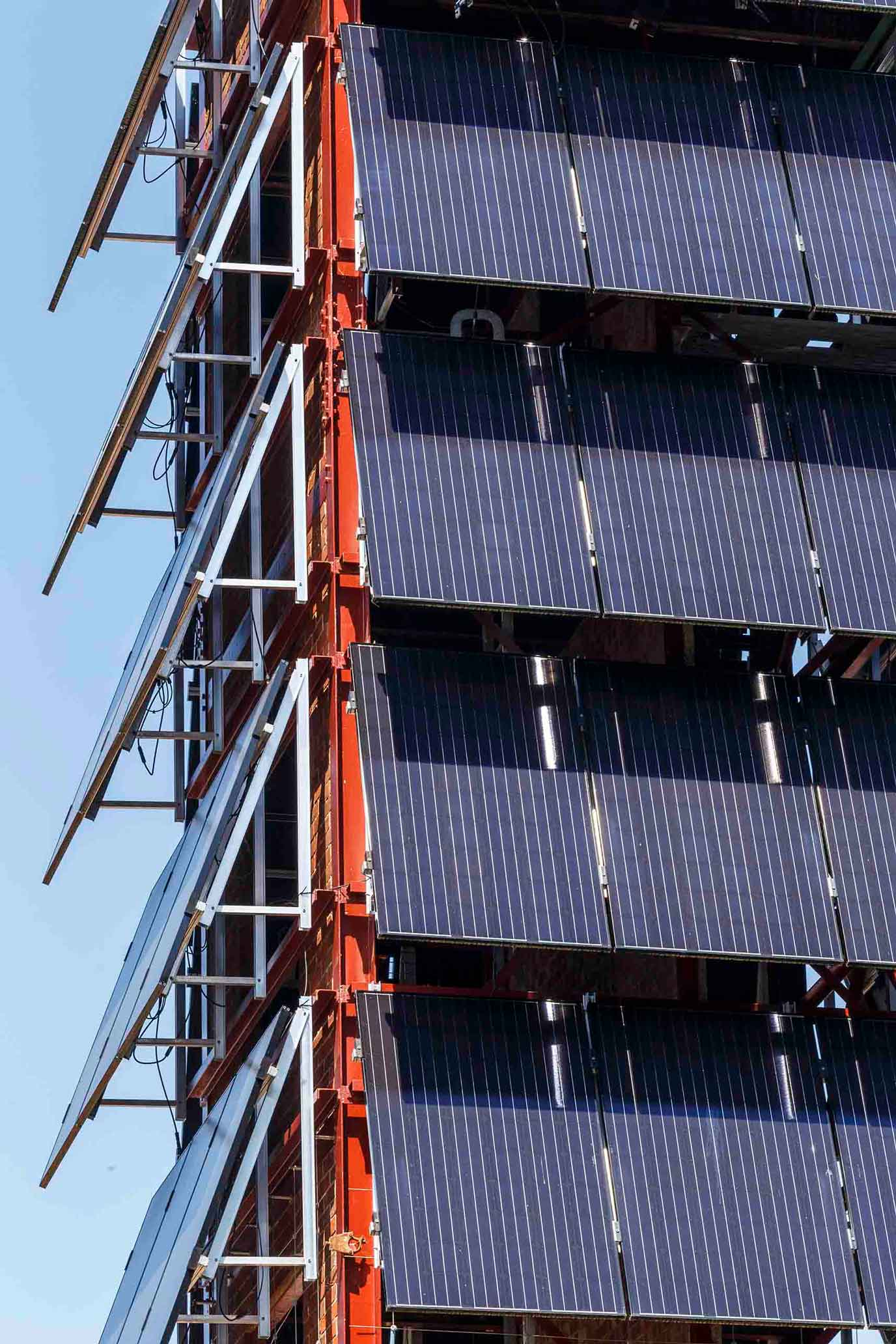 Exhibition Mews Ash Sakula old fireman's tower hosts new PV solar panels