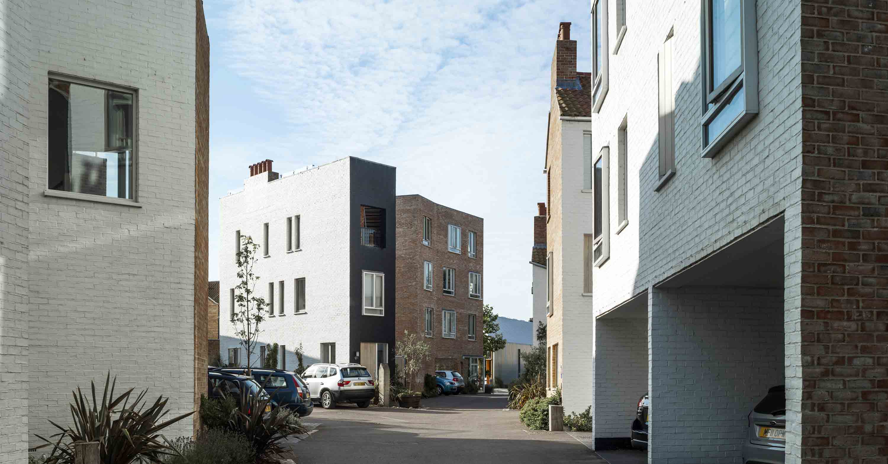 Tibby's Triangle housing Ash Sakula Architects Southwold view down the road