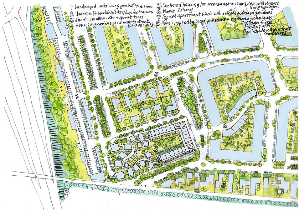 concept sketch plan Malacky na mayeri masterplan development slovakia