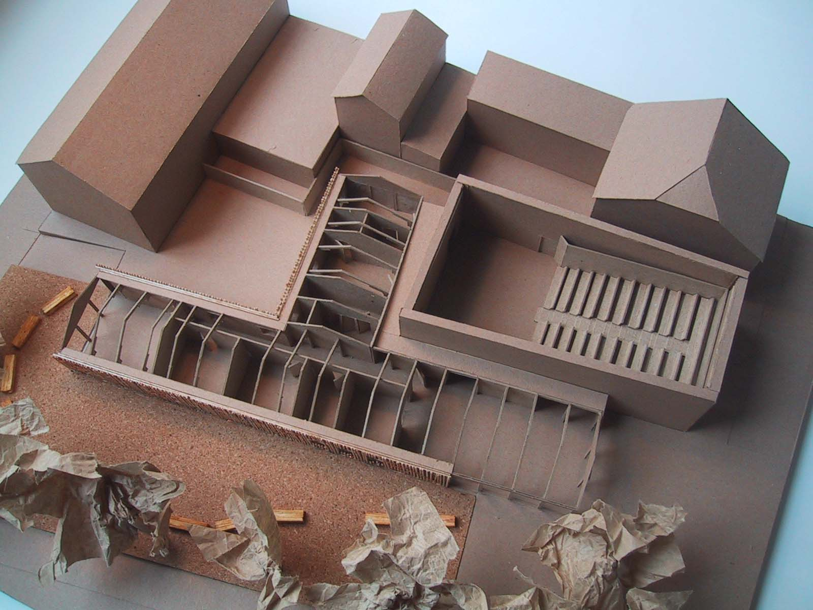 Concept model for Sparkenhoe Theatre by Ash Sakula Architects