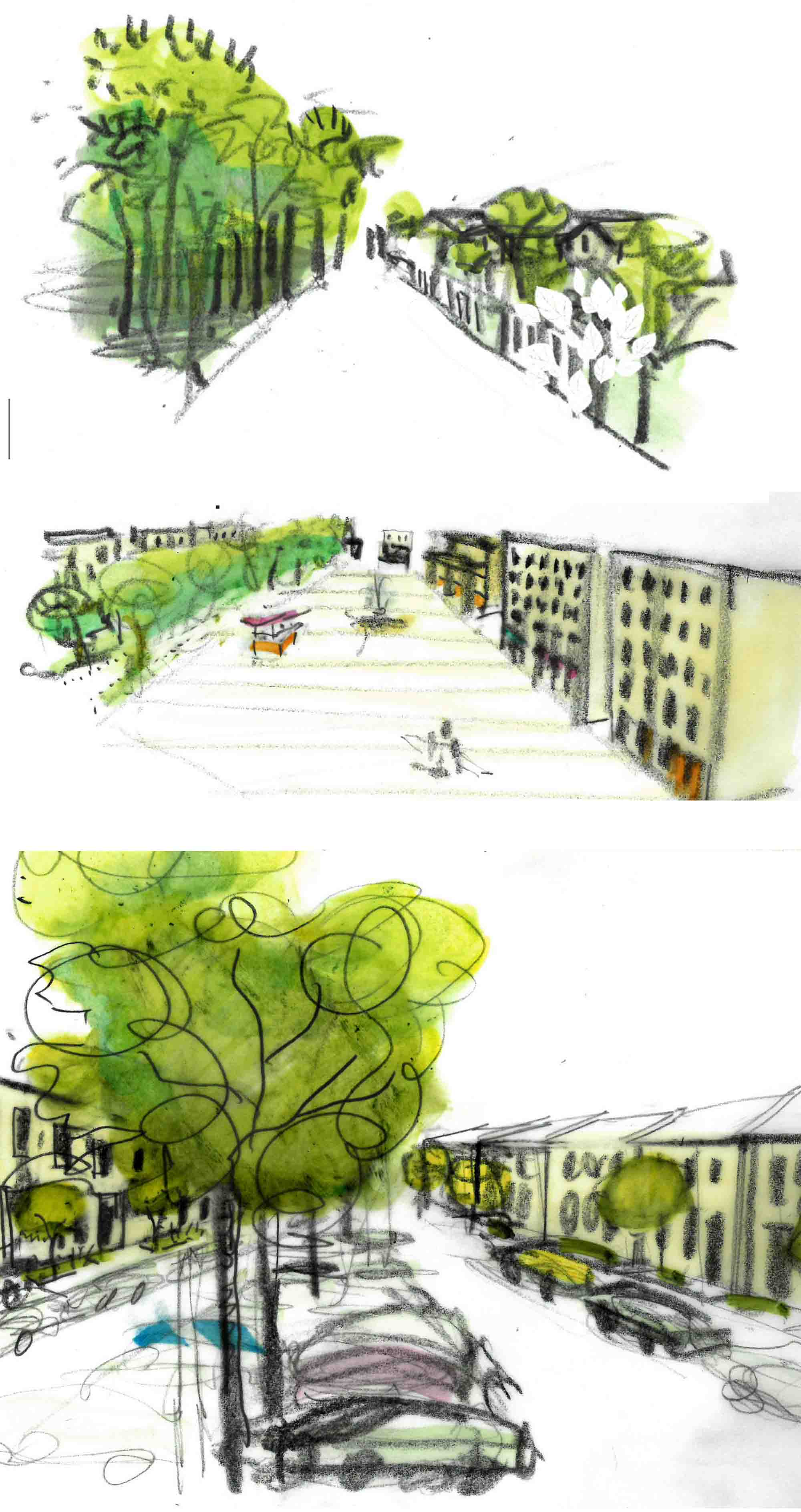 not one place but many concept sketches na mayeri masterplan development slovakia
