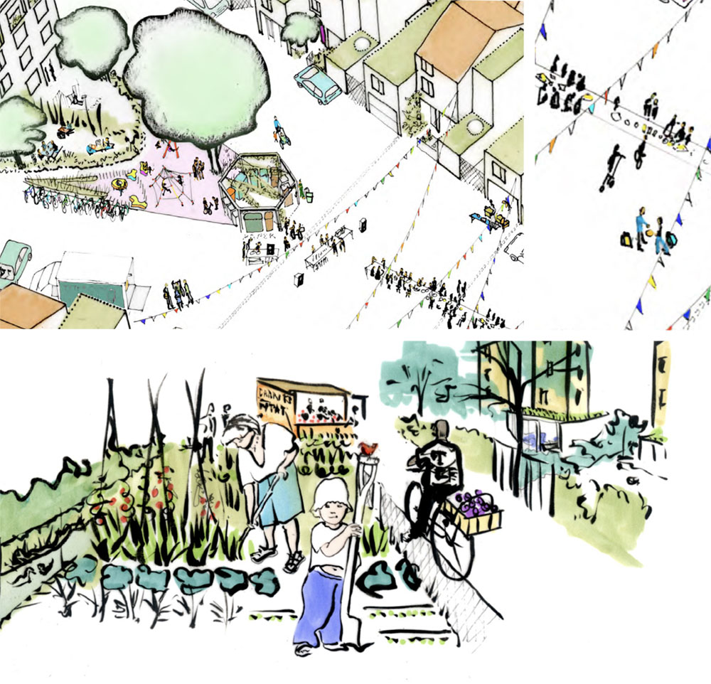 conviviality and community concept sketch for na mayeri masterplan development slovakia Ash Sakula Architects
