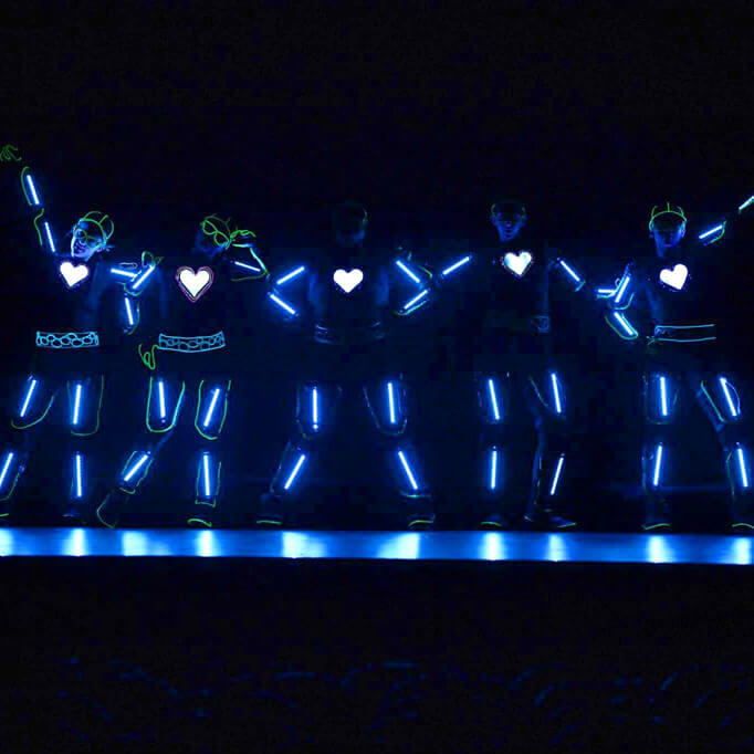 live event performers los angeles glow dancers asher entertainment 29