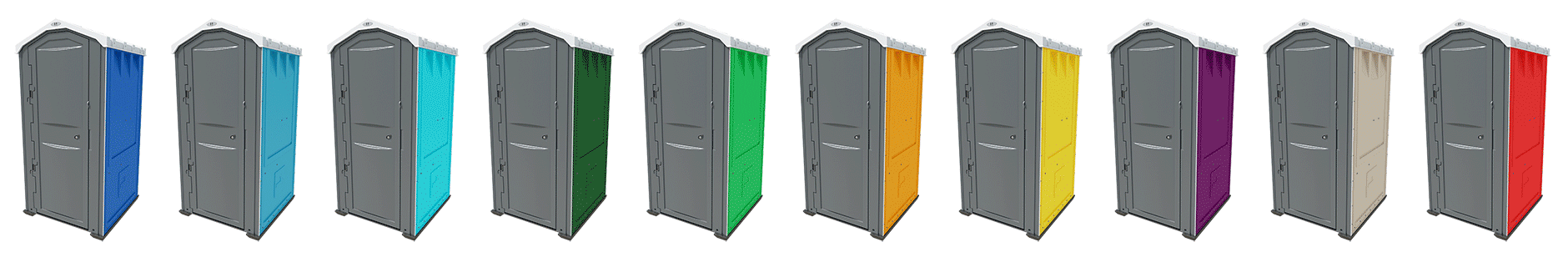 Portable toilets for sale in 10 colours