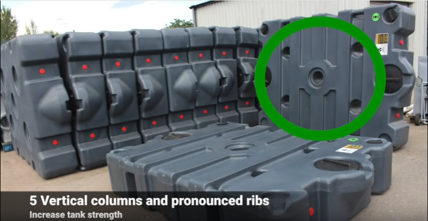 plastic waste holding tank designed for strength