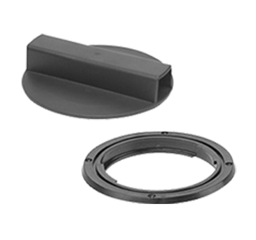 """5"""" Waste Port Assembly - lid and ring"""