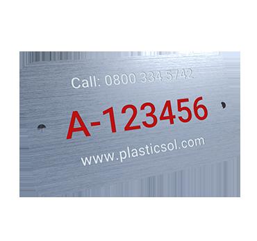 Numbering Plates - Custom Logo