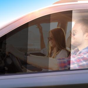 photo of Tint densities on car window
