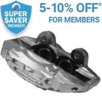 5% off Brake Calipers for Super Saver members*