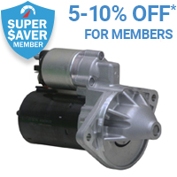 5% off Starter Motors for Super Saver members*