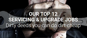 Top 12 servicing and upgrade jobs