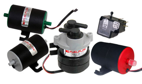 Fuelflow Universal Electric Fuel Pumps and Safety Collision Switches