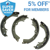 5% off Brake Shoes Linings for Super Saver members*