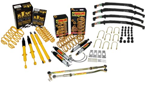 Low price lift kits from Tough Dog, King Springs and Aftermarket