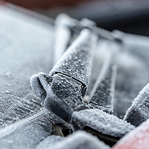 don't turn on your windscreen wipers if they are frozen with ice or risk tearing blades or burning out wiper motors