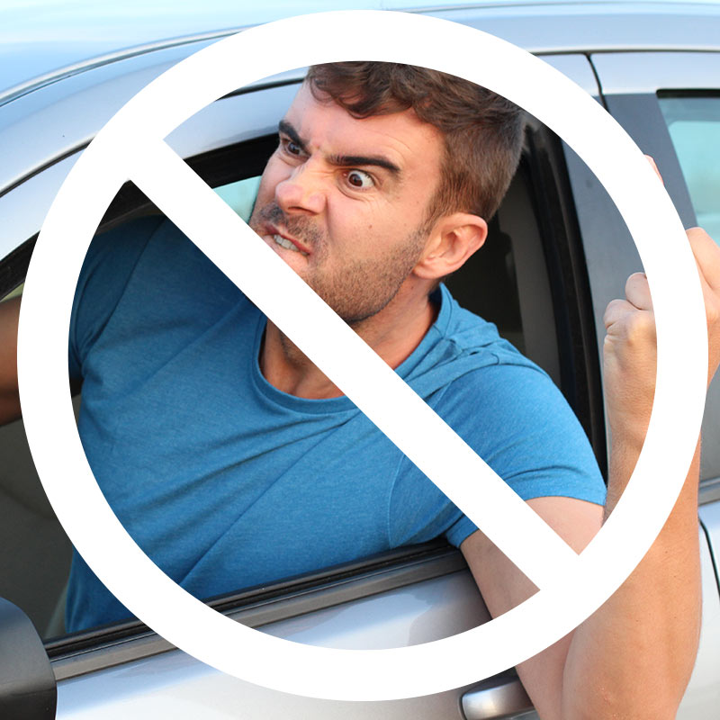 keep your cool in the heat and don't get involved in road rage