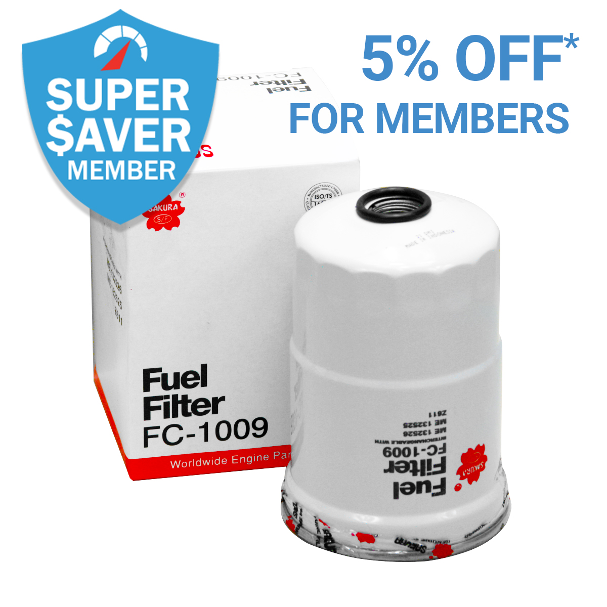 Get 5% Off* Fuel Filters as a Member