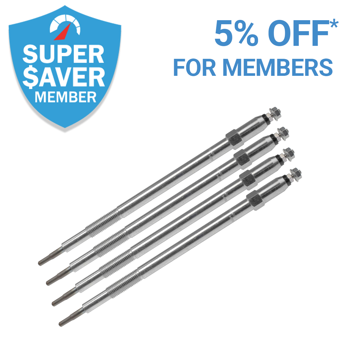 Get 5% Off* Glow Plugs As a Member
