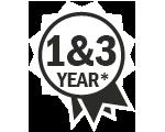 AutoNova 1 year warranty icon white