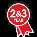 Matsumo 2 yr and 3 yr warranty ribbon icon