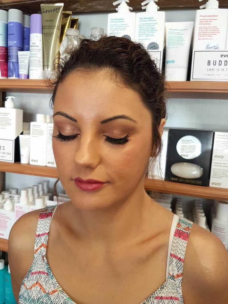 Bronzed makeup - Fremantle makeup artist - Kinks Fremantle