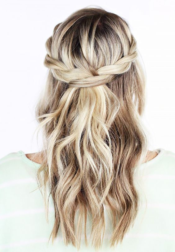 Twisted crown braid - bridal hair